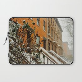 Brooklyn Wintertime is coming Brownstone Laptop Sleeve