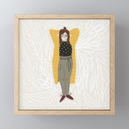 Favorite cosy fall outfit Framed Mini Art Print