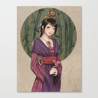 chinese Canvas Prints featuring Chinese by Nara Navy