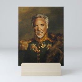 Sir Tom Jones - replaceface Mini Art Print
