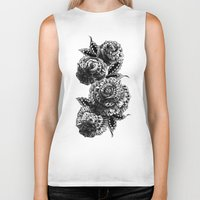 roses Biker Tanks featuring Four Roses by BIOWORKZ