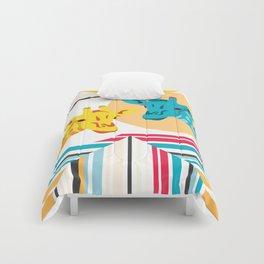 Giraffes In The Desert Comforters