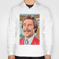 anchorman Hoodies featuring ANCHORMAN by i live