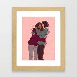Girlfriends in hoodies Framed Art Print