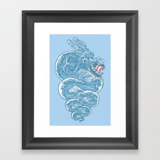 hello little dragon Framed Art Print