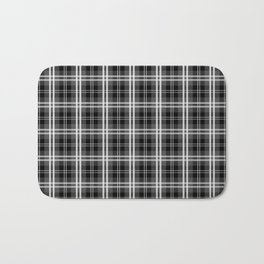 Black and White Mayzes Tartan Plaid Check Bath Mat