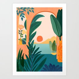 Tropical Evening Art Print