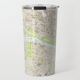 Paris SGB Watercolor Map Travel Mug