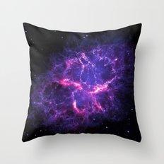 Pink Purple Crab Nebula Throw Pillow