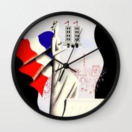 Paris Expo 1937 Art and Light Wall Clock