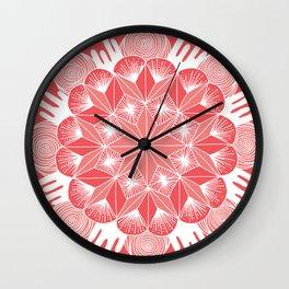 Melon Mandala Wall Clock