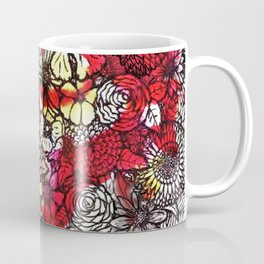 Yellow'n Red Flowers Coffee Mug