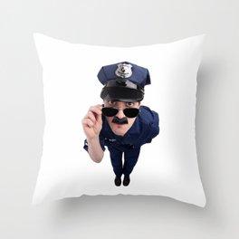 Curious Cop Throw Pillow