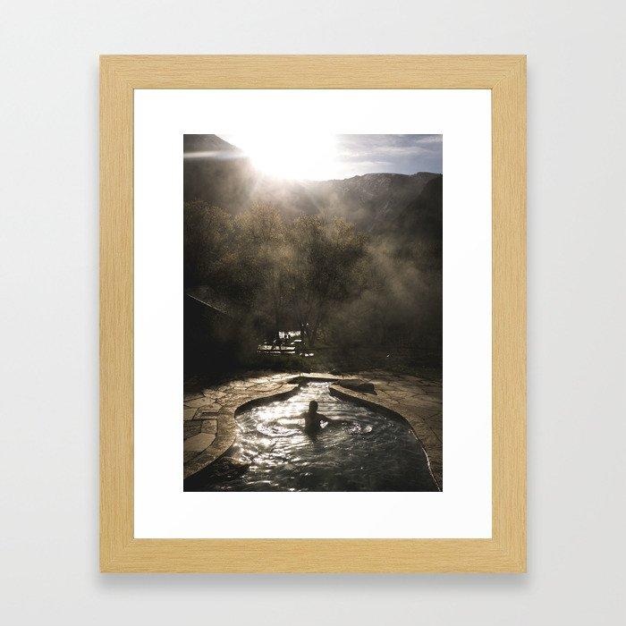 Sunrise Relaxation Framed Art Print