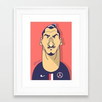 zlatan Framed Art Prints featuring Zlatan portrait by Rudi Gundersen