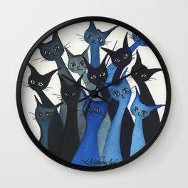 Escondido Whimsical Cats Wall Clock