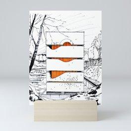 Block House Mini Art Print