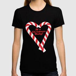 Candy Cane - It's Christmas, Baby! #xmas #christmas #minimal #love #design T-shirt