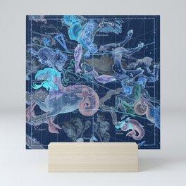 Star Atlas Vintage Constellation Map Blue Ignace Gaston Pardies Mini Art Print