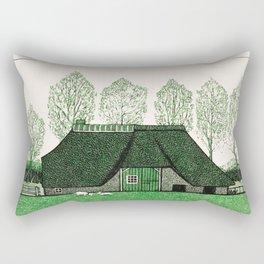 Julie de Graag - Farmhouse with thatched roof Rectangular Pillow
