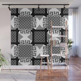 Geometric patchwork Wall Mural