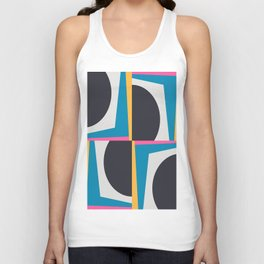 Modern Geometric 65 Blue Unisex Tank Top