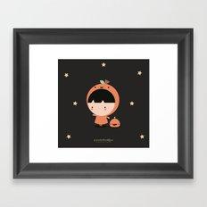 Cute Pumpkin Framed Art Print