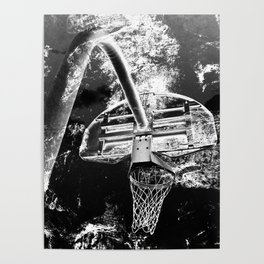 Black And White Basketball Art Poster