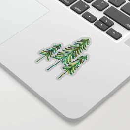 Pine Trees – Green Palette Sticker