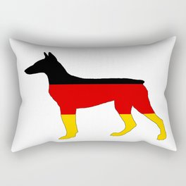 German Flag - Dobermann Pinscher Rectangular Pillow