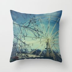 Abandoned Amusement Park 02 Throw Pillow