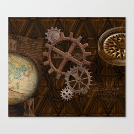 Comforts of Steampunk Canvas Print