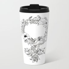 Feminist Flower  2.0 Metal Travel Mug