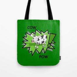 Cow Pow Tote Bag