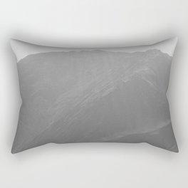 Top of the Rockies B&W Rectangular Pillow