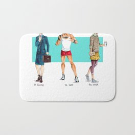 Men in Skirts Bath Mat