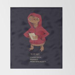E.T. to-do-list Throw Blanket