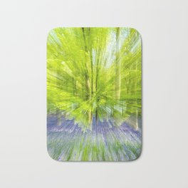 Rushing through thebluebells Bath Mat