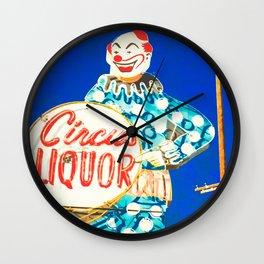 Circus Liquor - Burbank, CA Wall Clock