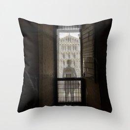 the girl and the cathedral santa maria asunta pisa italy 2 Throw Pillow