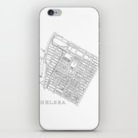 chelsea iPhone & iPod Skins featuring Chelsea by DRAW NORTH