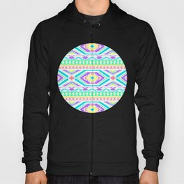 Aztec Geometric Print - Pastel bright colours Hoody