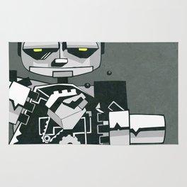 Inside a robot illustration Rug