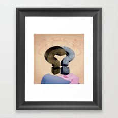 french kiss. question series Framed Art Print