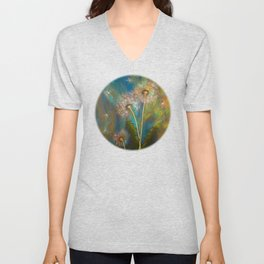 Dandelion Wishes Unisex V-Neck