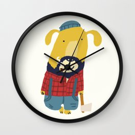 Rugged Roger - the lumberjack Wall Clock