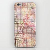 las vegas iPhone & iPod Skins featuring Las Vegas by MapMapMaps.Watercolors