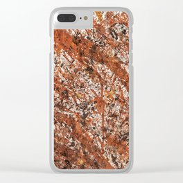 Action Painting 03 Clear iPhone Case