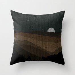 Moonrise (Sepia) Throw Pillow
