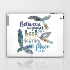 Between the Pages - Feathery White Laptop & iPad Skin